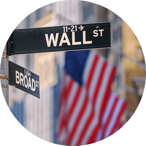 Photo of Wall St. street sign.